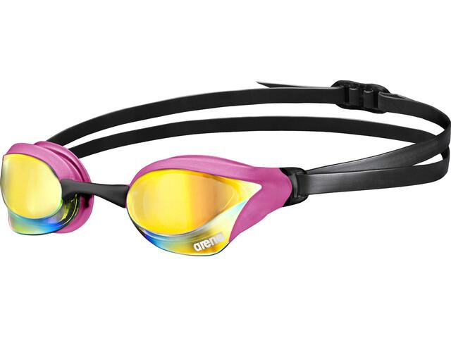 arena Cobra Core Mirror Goggles pink revo-pink-black